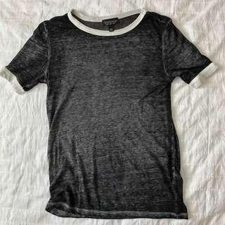 TOP SHOP Black Top with White Detailing