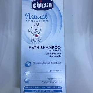 Chicco Natural Sensation Baby/infant Bath Shampoo No Tears with aloe and chamomile 初生嬰幼兒洗髮沐浴露無淚配方200ml