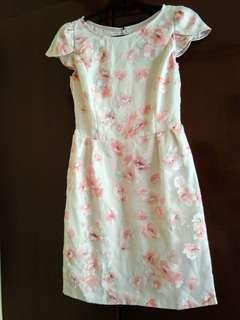 Cherry Blossoms Cream dress (used once)