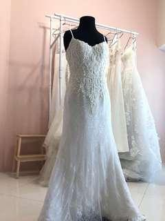 Fully beaded wedding gown