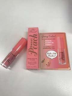 Too Faced Creamy Peach Oil Lipstick Lip Gloss 唇膏