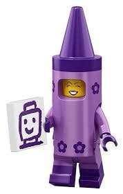 Lego Minifigure Crayon Girl