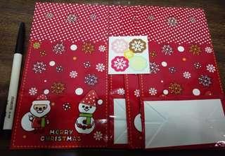 🚚 紙禮物袋(萬用袋)有4個-附貼紙