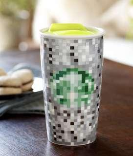 Rodarte + Starbucks Pixel Ceramic Double Wall 12 oz. Tumbler