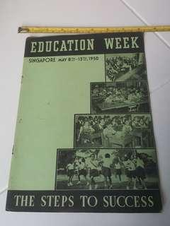 Singapore Education Week :1950.