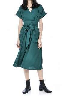 🚚 The Editors Market Green Wrap Dress