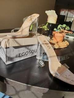 Ego Squad Clear Strappy Heel Sandals