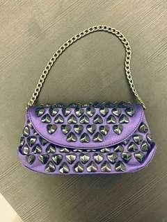 Clutch Bag Betsy Johnson purple bag