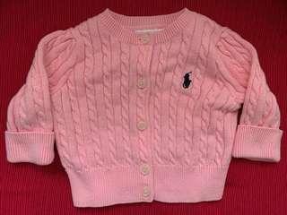 Polo baby粉紅色冷外套