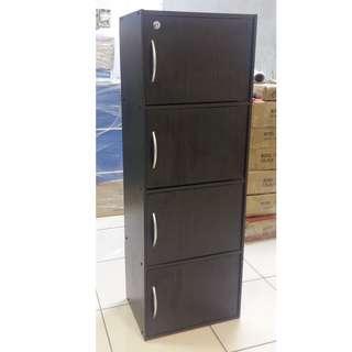 4 Layers Cabinet with Door -Wenge