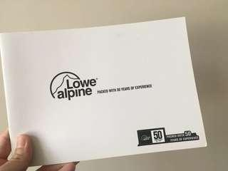 (SF delivery) Lowe alpine catalogue
