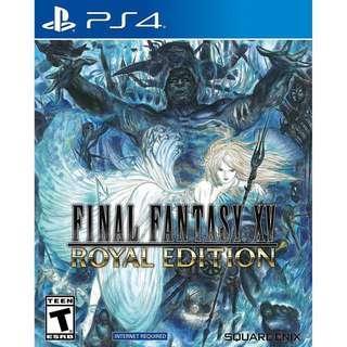 PS4 games Final Fantasy XV 15 Royal edition