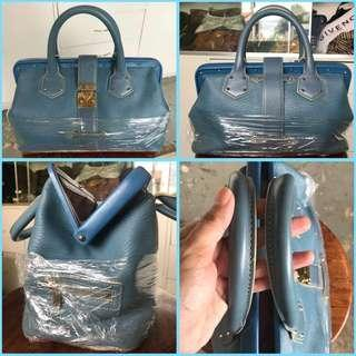 Louis Vuitton Limited Edition Suhali Hand Bag Blue