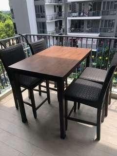🚚 High Table and Chairs Dining
