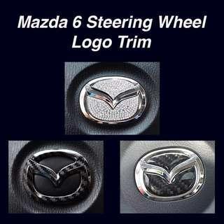 Mazda 6 Steering Wheel Logo Trim