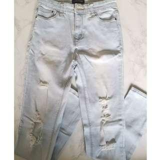 Something Borrowed Ripped Jeans light wash