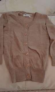 Baju hangat / sweater warna coklat