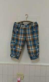 MATSUMi藍白格子褲
