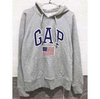 🚚 Gap 灰色美國國旗厚帽T 33