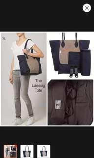 Lassig diaper tote bag with accessories