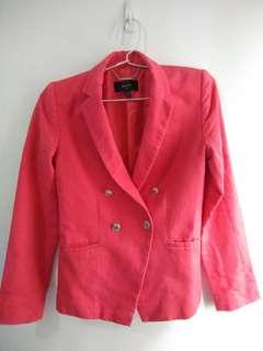 Woman's double breasted suit blazer