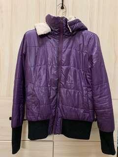 🚚 I.MODA紫色保暖外套 帽子可拆