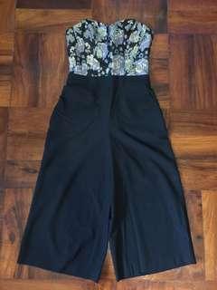 Miss Selfridge Floral Culotte Jumpsuit