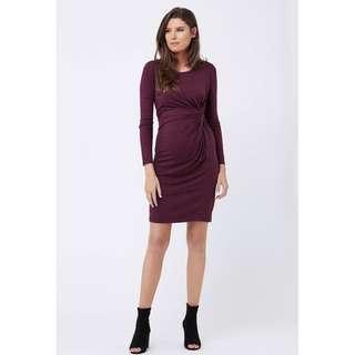 5cd7996f30 Ripe Maternity Side Knot Jersey Dress
