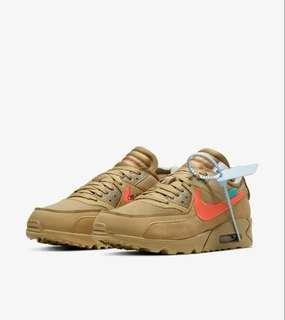 [RESERVED] WTS AUTHENTIC OFF WHITE AIR MAX 90 BROWN/ DESERT SAND US 8