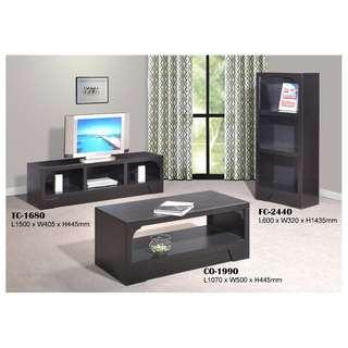 Living Set Package TV CABINET AND FILE CABINET AND COFFEE TABLE