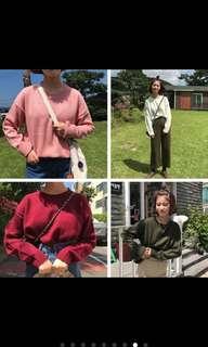 🚚 (任選3件350)粉色針織毛衣 🇰🇷 韓