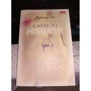 (PRELOVED NOVEL METROPOP) - A Week to Forever by Stephanie Zen