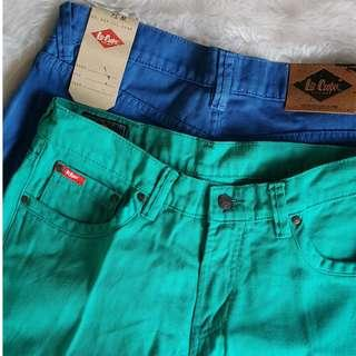 [Bundle, Brand New] Lee Cooper 3/4 Cotton Green Blue Pants