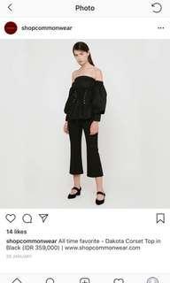 Dakota Corset top in Black