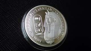 埃及人面獅身鍍銀幣,鍍銀幣,埃及銀幣,銀幣,收藏錢幣,錢幣,紀念幣,幣~埃及人面獅身鍍銀幣