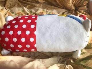 正版九成新 Hello Kitty 長條型攬枕