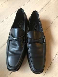 Tods Black Loafers size 9.5 黑色皮鞋
