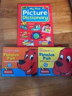 🚚 kids phonics clifford the big red dog