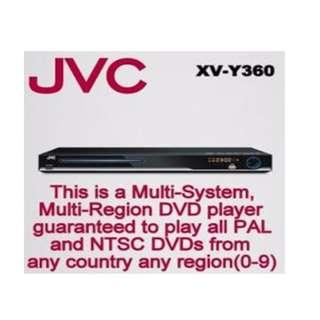 JVC XV-Y360 Multi Region DVD Player Brand new in box