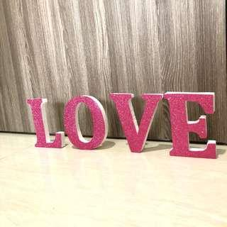 [For Rent] Love Pink Glitter Wording