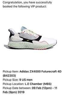 US 9 Adidas 4D ZX4000