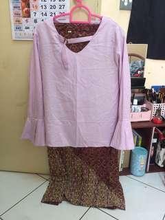 satu set baju & kain (pre loved)