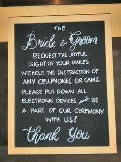 DIY 'Unplugged Wedding' Signage