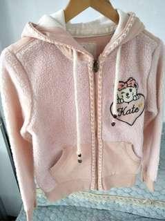 小熊粉色羊羔毛衛衣外套