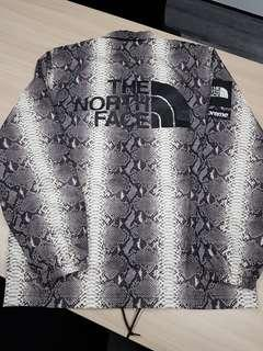 Supreme the north face tnf snakeskin taped seam coach jacket