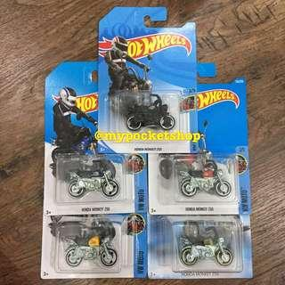 🚚 5x Hot Wheels HONDA MONKEY Z50 (Bundle) with Treasure Hunt