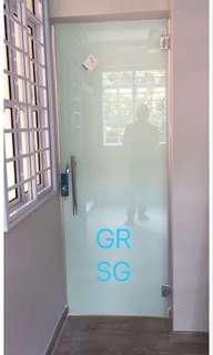 Hinge Glass entrance door for Kitchen/Toilet
