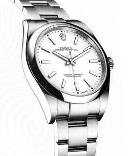 🚚 Rolex Oyster perpetual 114300 White Dial