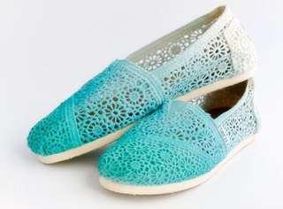 Toms Ombré Blue shoes