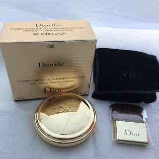 Dior diorific perfumed illuminating powder 002 perle d'or 限量版香薰閃粉盒